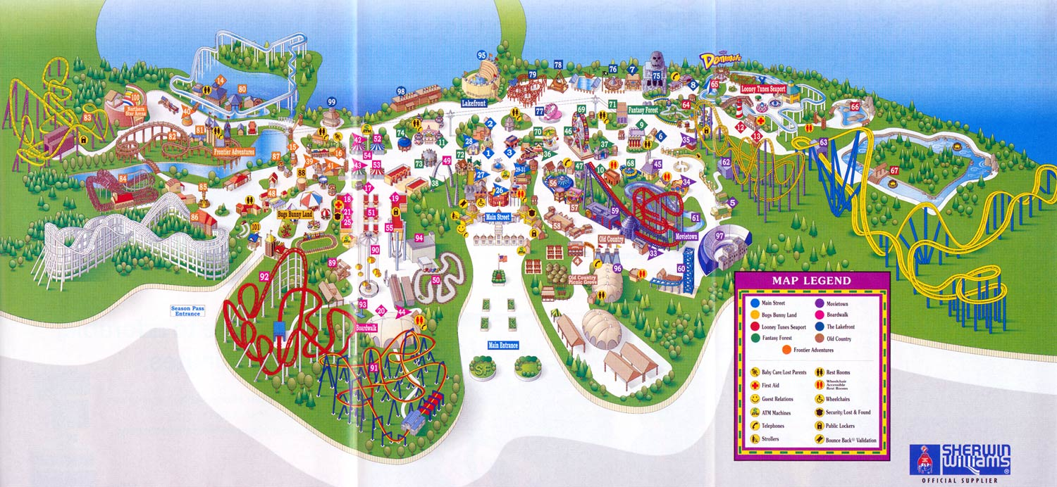 Six-Flags-Great-Adventure-Map-2004